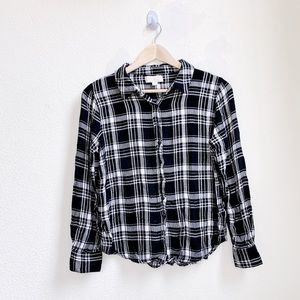 Olive & Oak | Black Plaid Flannel